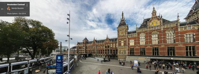 AmsterdamCentralStationStreetView